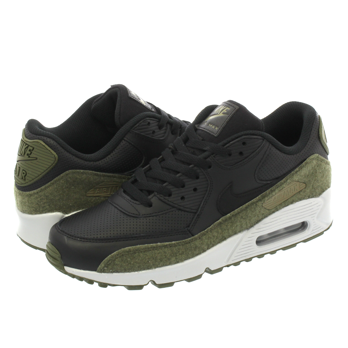 official photos 09d57 2cc47 NIKE AIR MAX 90 HAL Kie Ney AMAX 90 HAL BLACK MEDIUM OLIVE FLAT SILVER