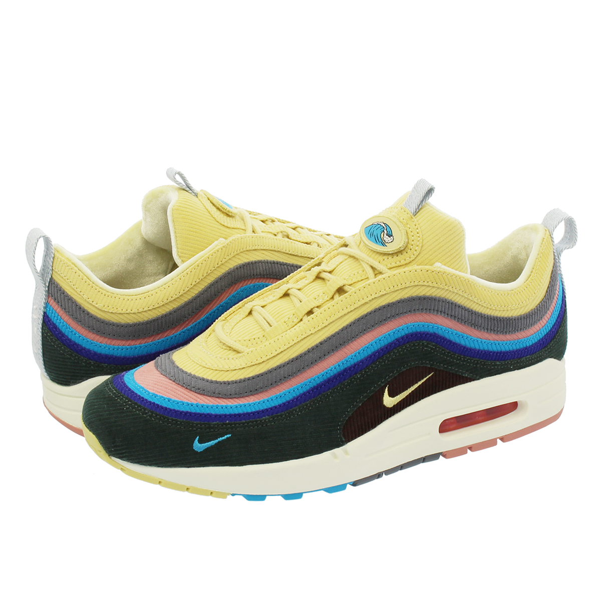 NIKE AIR MAX 1/97 V.F. SW NIKE AIR MAX 1/97 V.F. Sean weather spoon LIGHT BLUE FURY/LEMON WASH