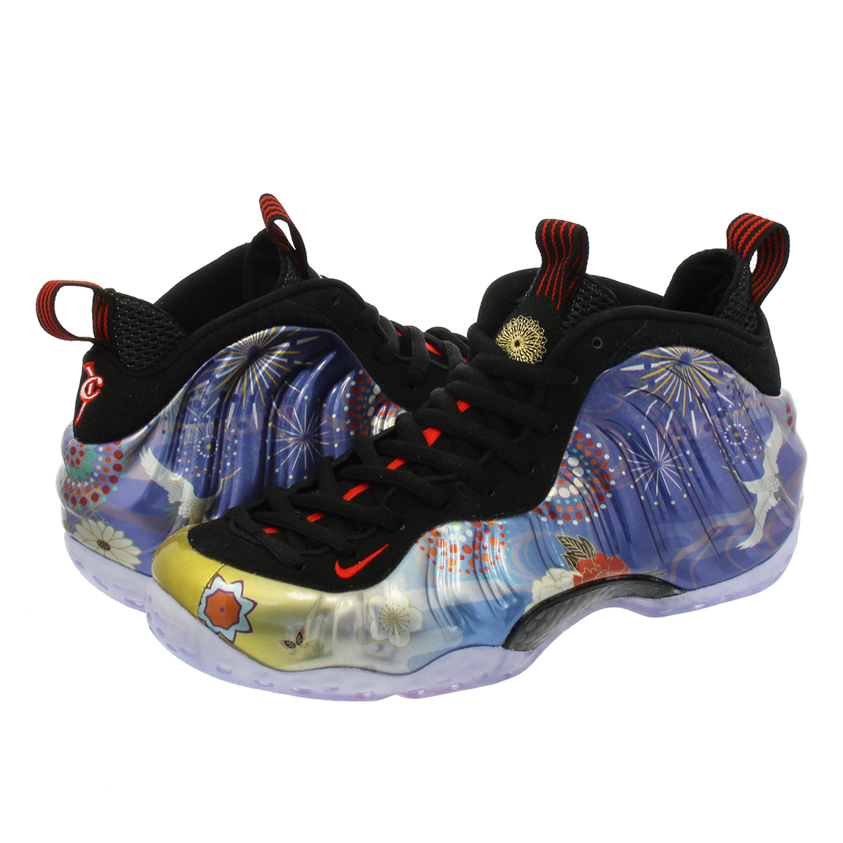 6ce56f8de39 NIKE AIR FOAMPOSITE ONE LNY QS ナイキフォームポジットワン LNY QS BLACK HABANERO RED  ao7541-006
