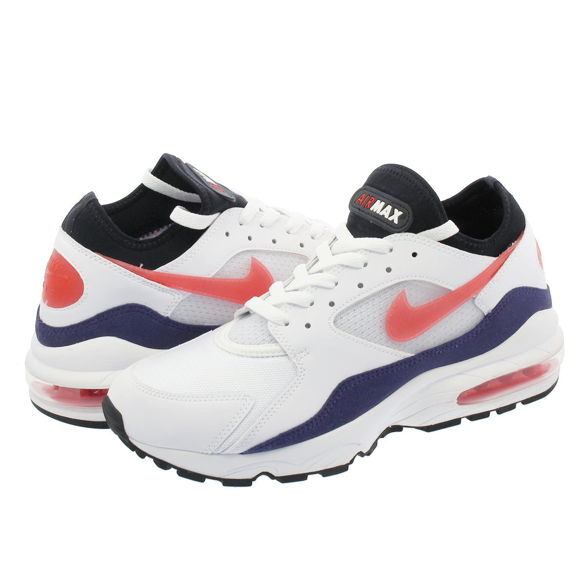 SELECT Global SHOP LOWTEX |  Global SELECT Market: NIKE AIR MAX 93 Kie Ney AMAX 93 WHITE/HABANERO RED 306,551-102 5a8de4