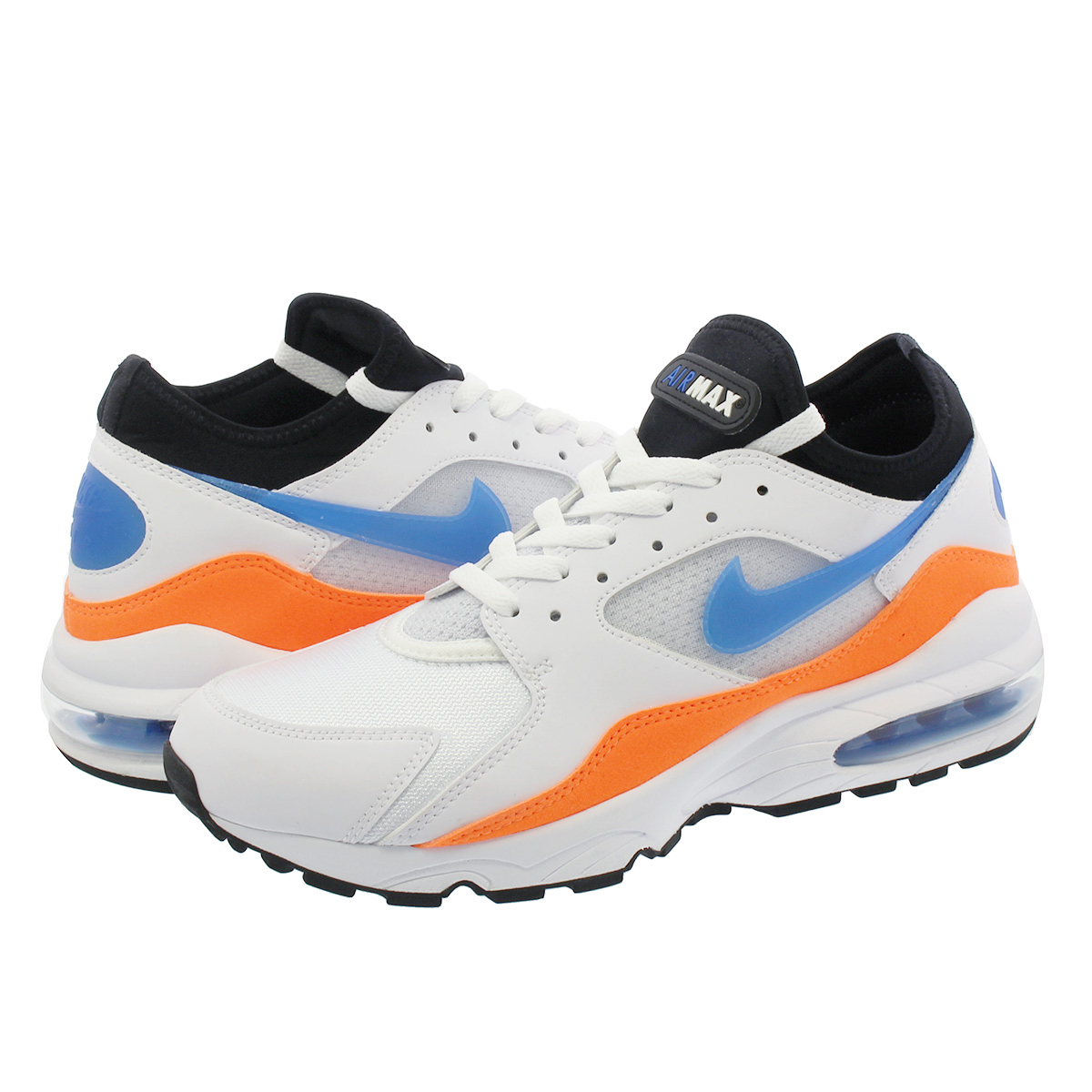 1d34f4fd6a5 SELECT SHOP LOWTEX  NIKE AIR MAX 93 Kie Ney AMAX 93 WHITE BLUE NEBULA TOTAL  ORANGE BLACK 306