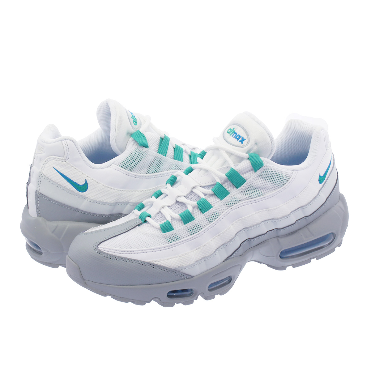 NIKE AIR MAX 95 ESSENTIAL Kie Ney AMAX 95 essential LIGHT PUMICECLEAR EMERALDWHITE 749,766 032