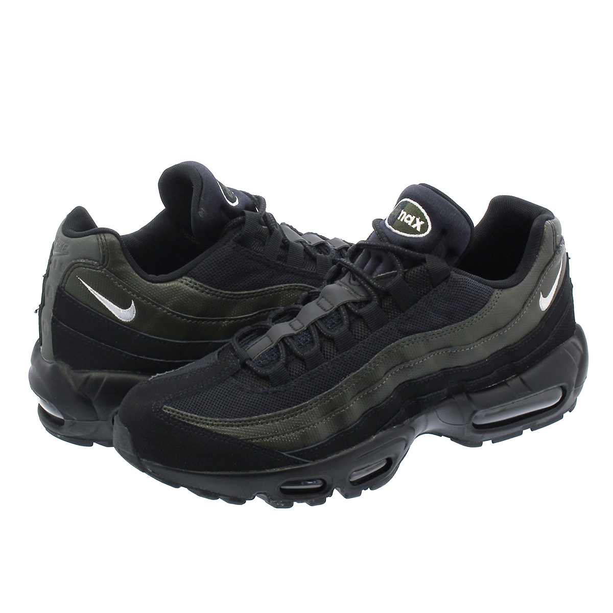 NIKE AIR MAX 95 ESSENTIAL Kie Ney AMAX 95 essential BLACK WHITE SEQUOIA  749 23c8c7fed