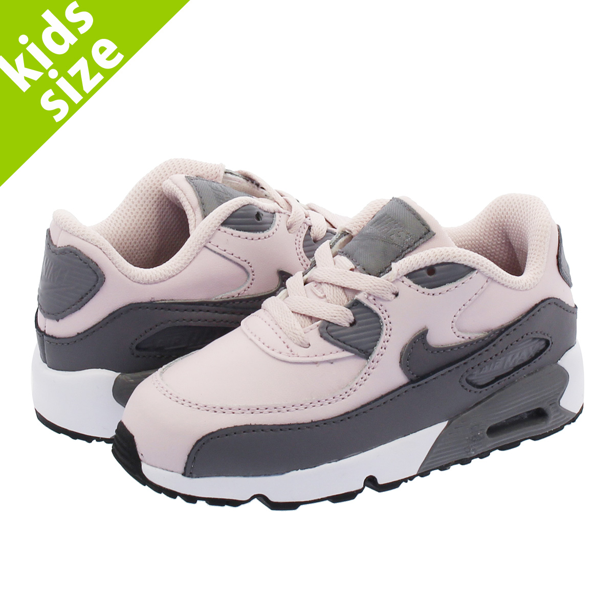 sale retailer 92835 75428 SELECT SHOP LOWTEX NIKE AIR MAX 90 LTR TD Kie Ney AMAX 90 leather TD  BARELY ROSEGREY 833,379-601  Rakuten Global Market