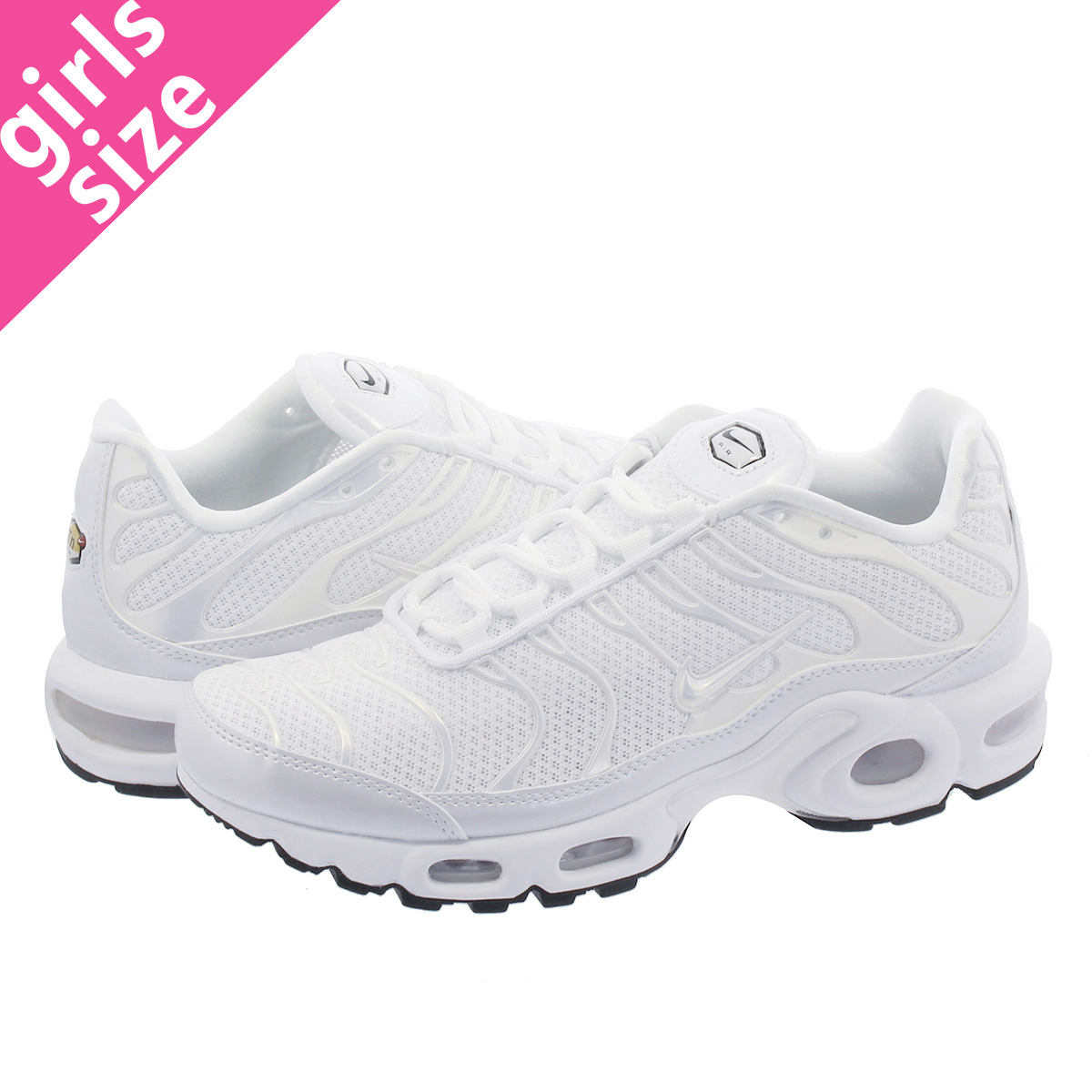 sale retailer 59e1c 12bce NIKE WMNS AIR MAX PLUS PREMIUM Nike women Air Max plus premium  WHITE WHITE WHITE BLACK 848,891-100