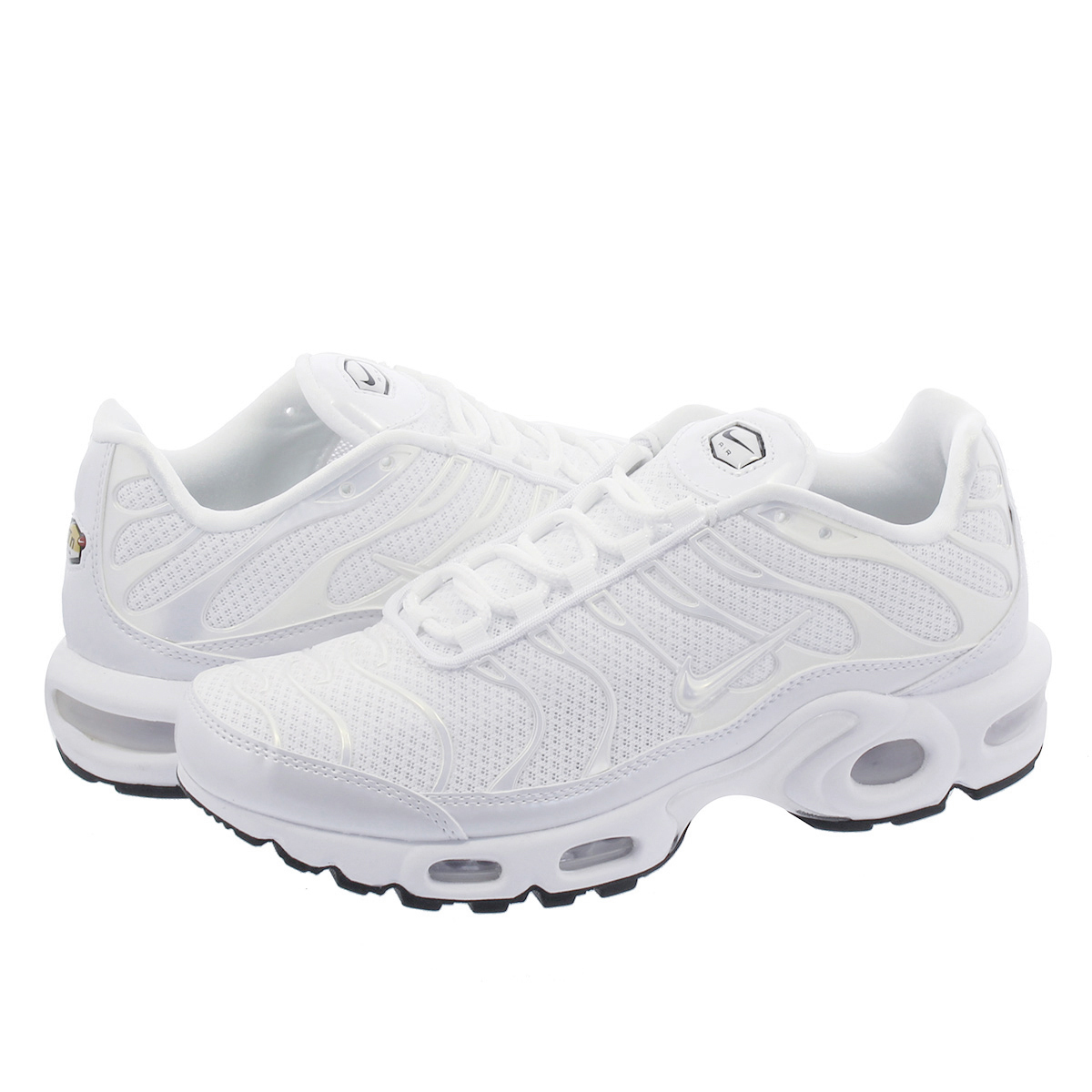 timeless design a8d5d 3400d NIKE WMNS AIR MAX PLUS PREMIUM Nike women Air Max plus premium  WHITE/WHITE/WHITE/BLACK 848,891-100