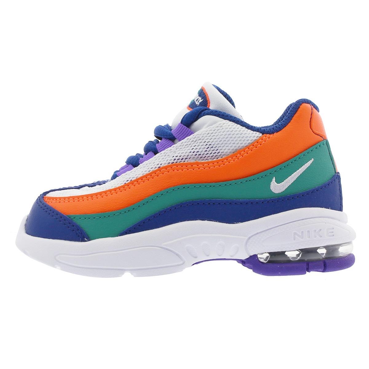 sports shoes 00f28 048d7 NIKE AIR MAX 95 TD Kie Ney AMAX 95 TD WHITE/BLUE/ORANGE/GREEN 905,462-412