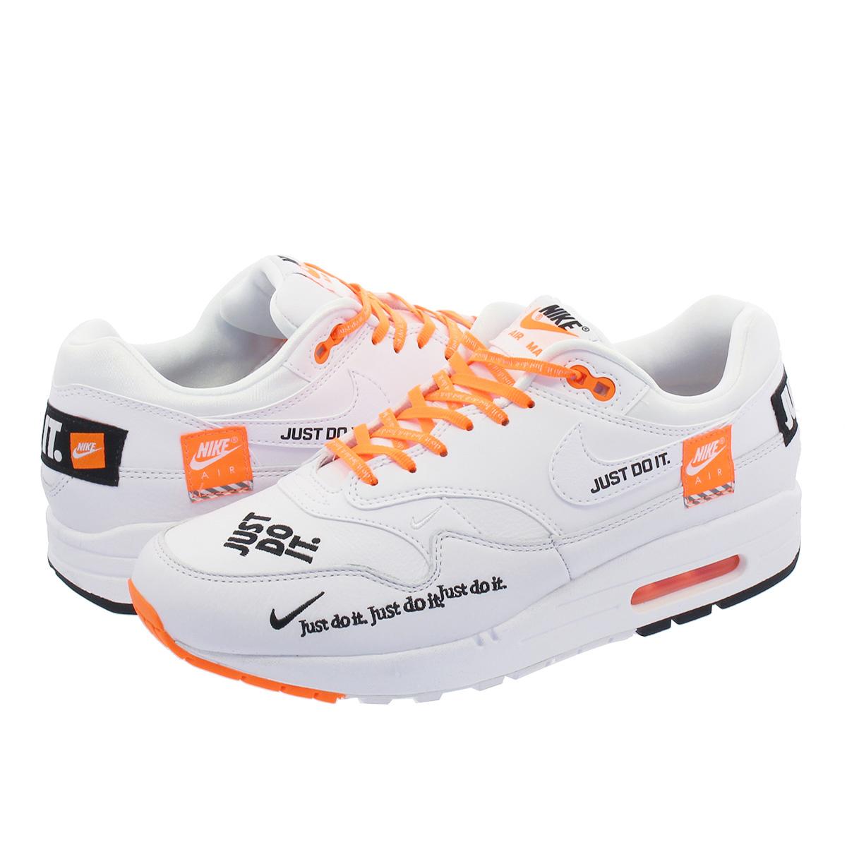 Nike Air Max 1 LX WMNS White Black Total Orange | Footshop
