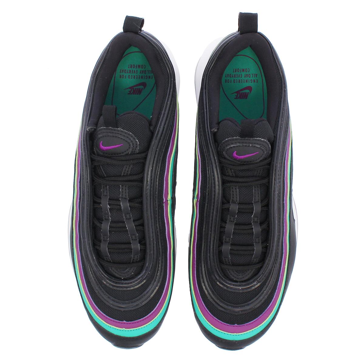 buy online 0fb7d 80989 NIKE WMNS AIR MAX 97 Nike women Air Max 97 BLACK BRIGHT GRAPE CLEAR EMERALD  921,733-008