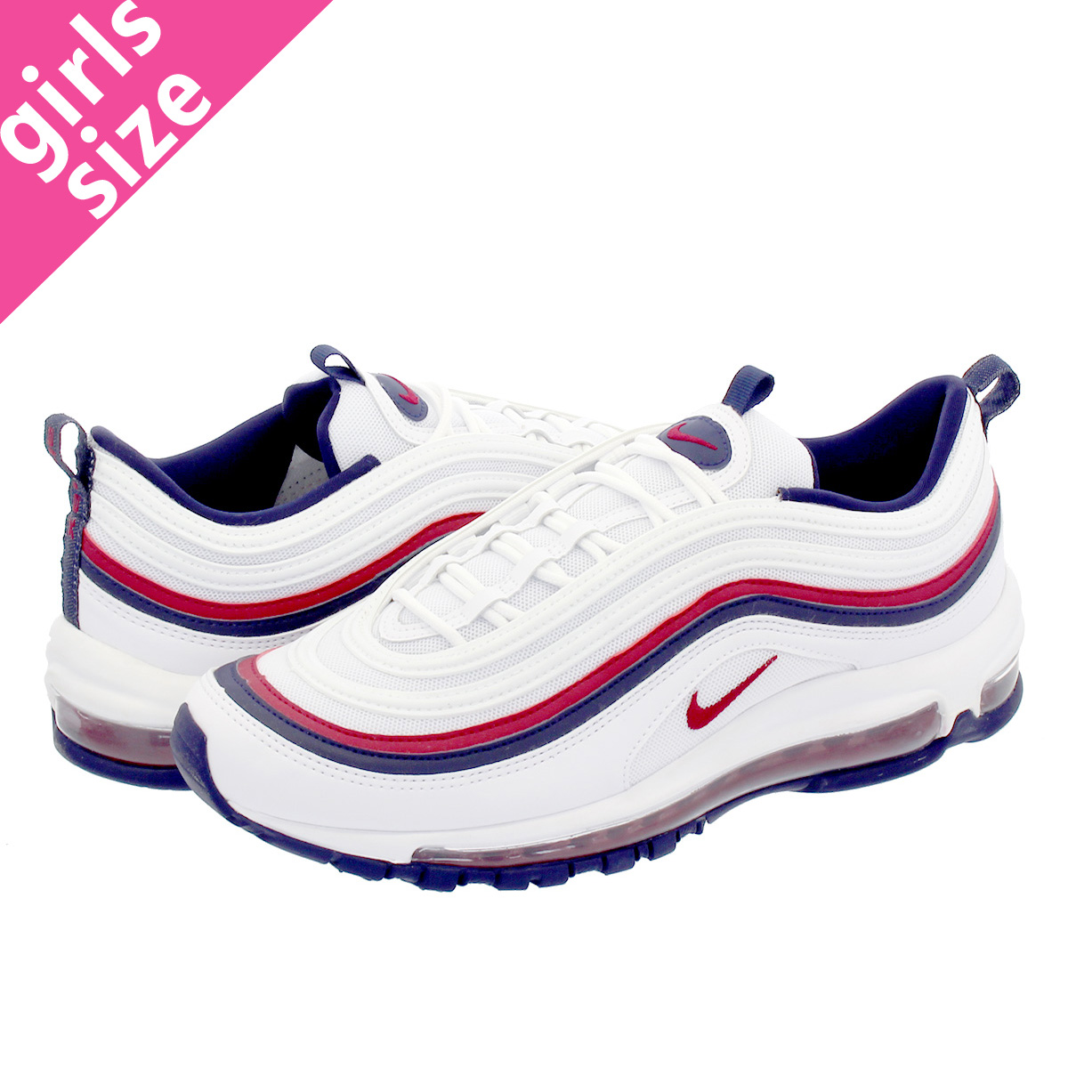 nike air max 97 white blackened blue red crush