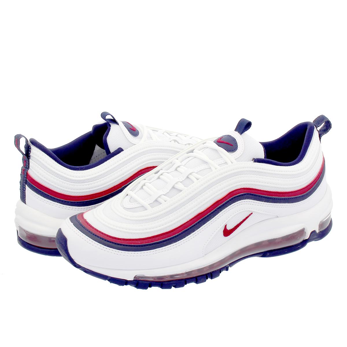 chaussures de séparation 0e63d 389f0 NIKE WMNS AIR MAX 97 Nike women Air Max 97 WHITE/RED CRUSH/BLACKENED BLUE  921,733-102