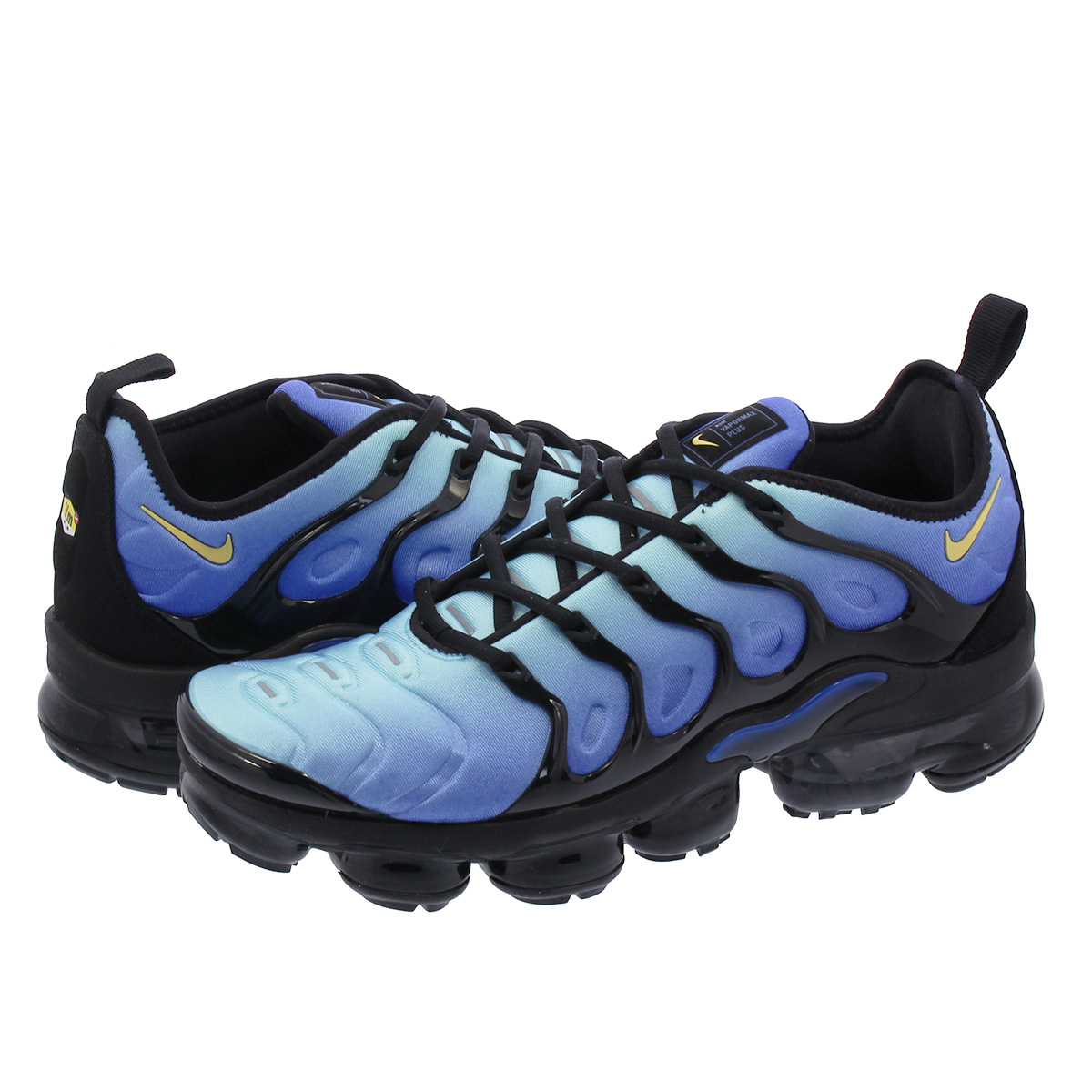 hot sale online ed2ca 4c695 NIKE AIR VAPORMAX PLUS Nike vapor max plus BLACK/CHAMPOIS/HYPER BLUE  924,453-008