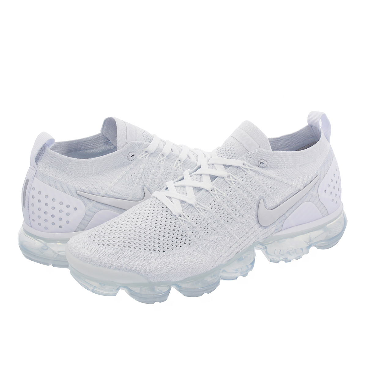 quality design 1808f 55c2d NIKE AIR VAPORMAX FLYKNIT 2 Nike vapor max fried food knit 2 WHITE/VAST  GREY/FOOTBALL GREY 942,842-105