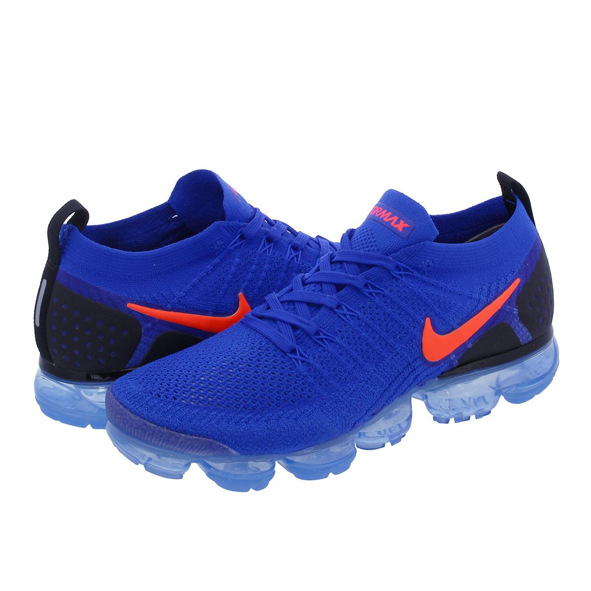 wholesale dealer 52117 2d255 NIKE AIR VAPORMAX FLYKNIT 2 Nike vapor max fried food knit 2 RACER  BLUE/TOTAL CRIMSON/BLACK 942,842-400
