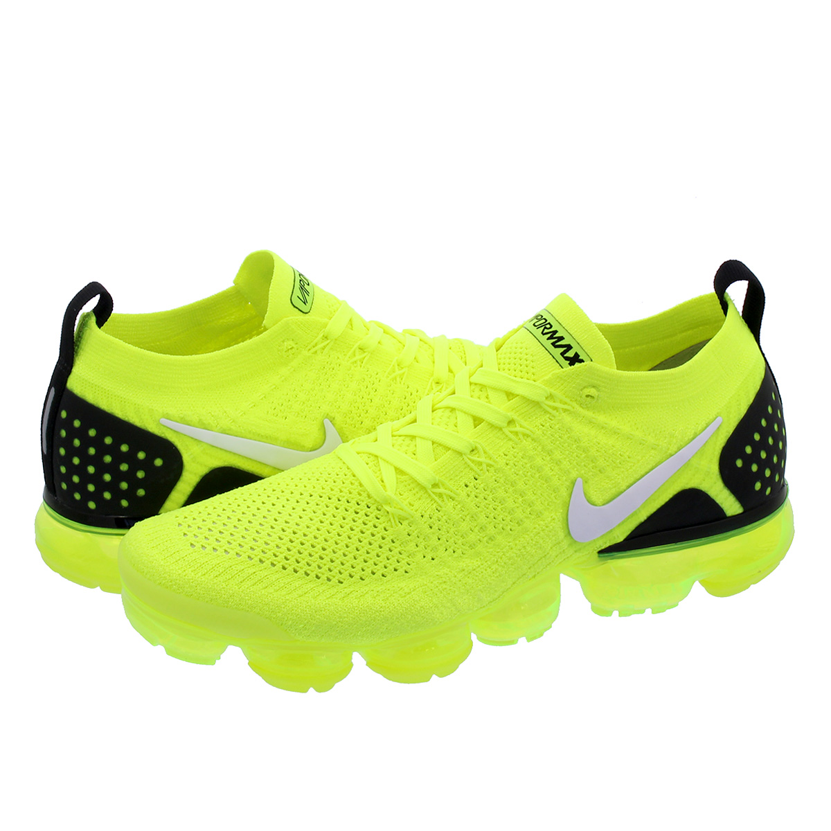 huge discount 12bd9 c6745 NIKE AIR VAPORMAX FLYKNIT 2 Nike vapor max fried food knit 2 VOLT/BLACK  942,842-700