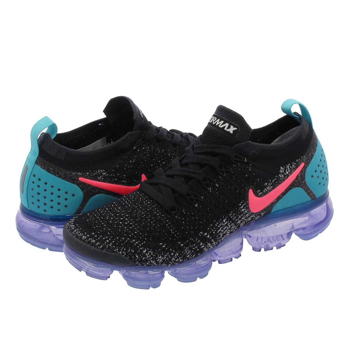 on sale d5061 7671b NIKE WMNS AIR VAPORMAX FLYKNIT 2 Nike women vapor max fried food knit  BLACK/HOT PUNCH/CACTUS 942,843-003