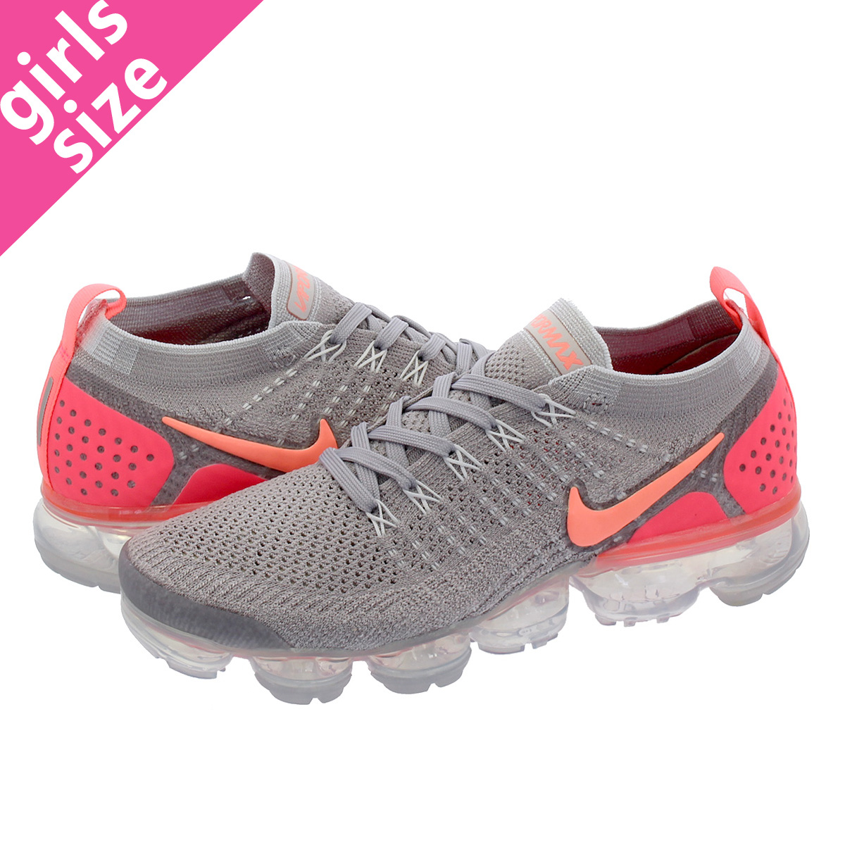 1f573b26a68 NIKE WMNS AIR VAPORMAX FLYKNIT 2 Nike women vapor max fried food knit ATMOSPHERE  GREY CRIMSON PULSE 942