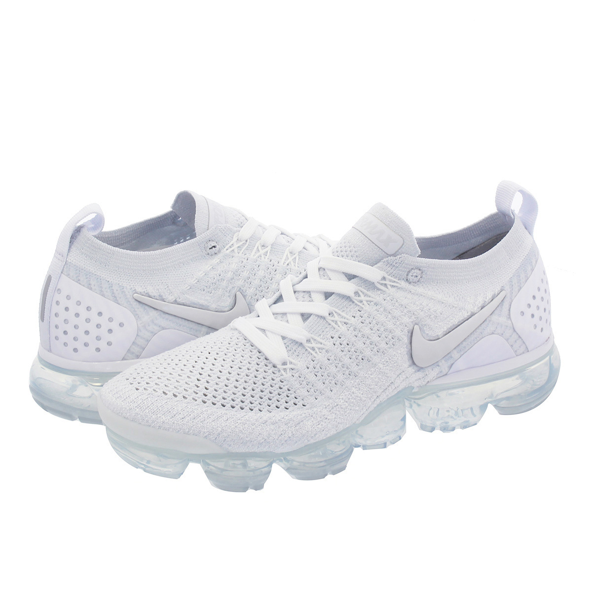 new product 31bac 813eb NIKE WMNS AIR VAPORMAX FLYKNIT 2 Nike women vapor max fried food knit  WHITE/VAST GREY/FOOTBALL GREY 942,843-105