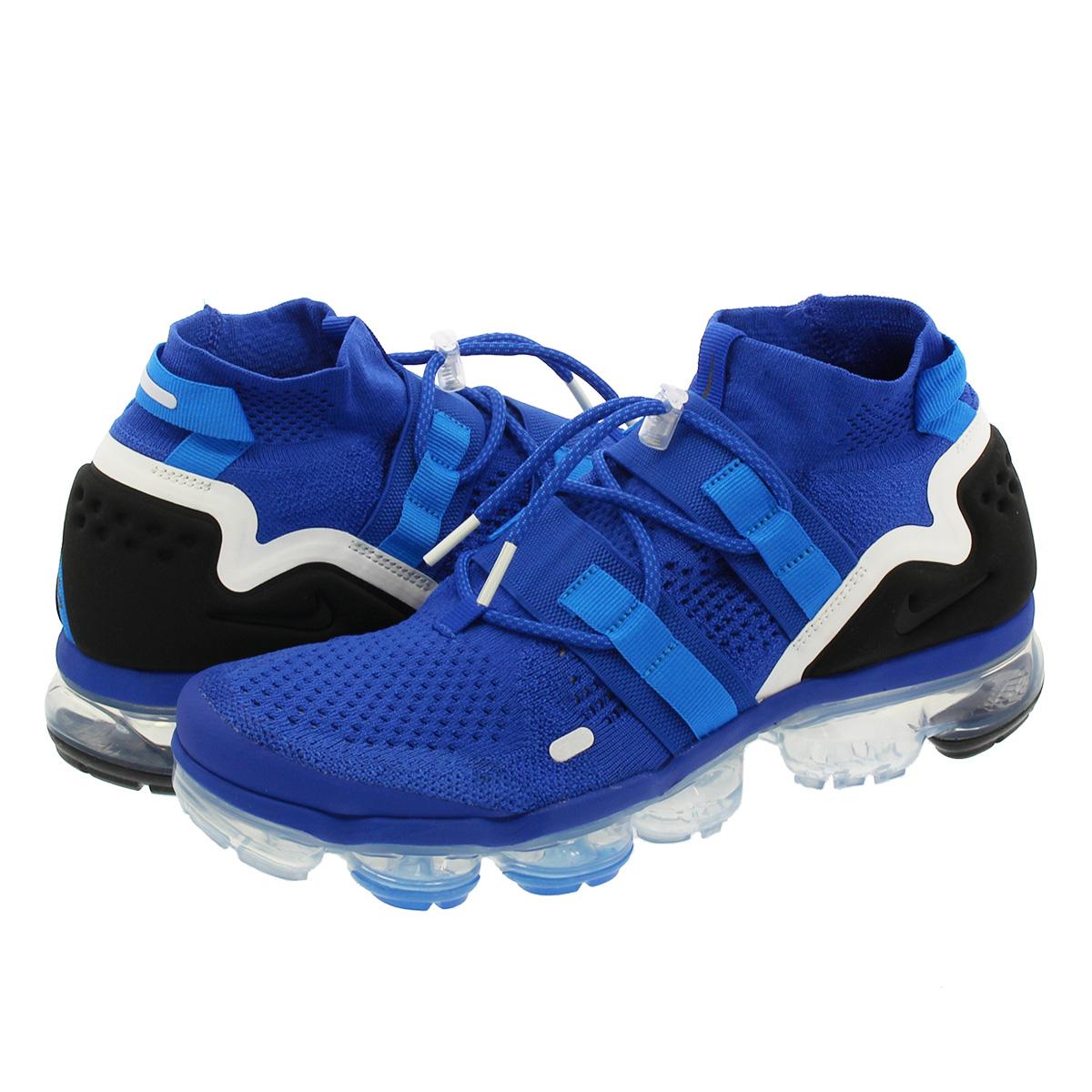 the latest da455 b1a48 NIKE AIR VAPORMAX FLYKNIT UTILITY Nike vapor max fried food knit utility  GAME ROYAL/BLACK/PHOTO BLUE/SUMMIT WHITE ah6834-400