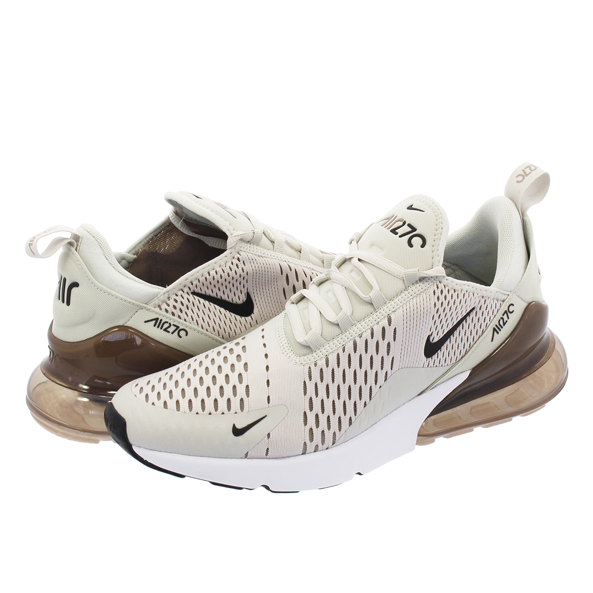 NIKE AIR MAX 270 ナイキ エア マックス 270 LIGHT BONE/BLACK/SEPIA ah8050-007