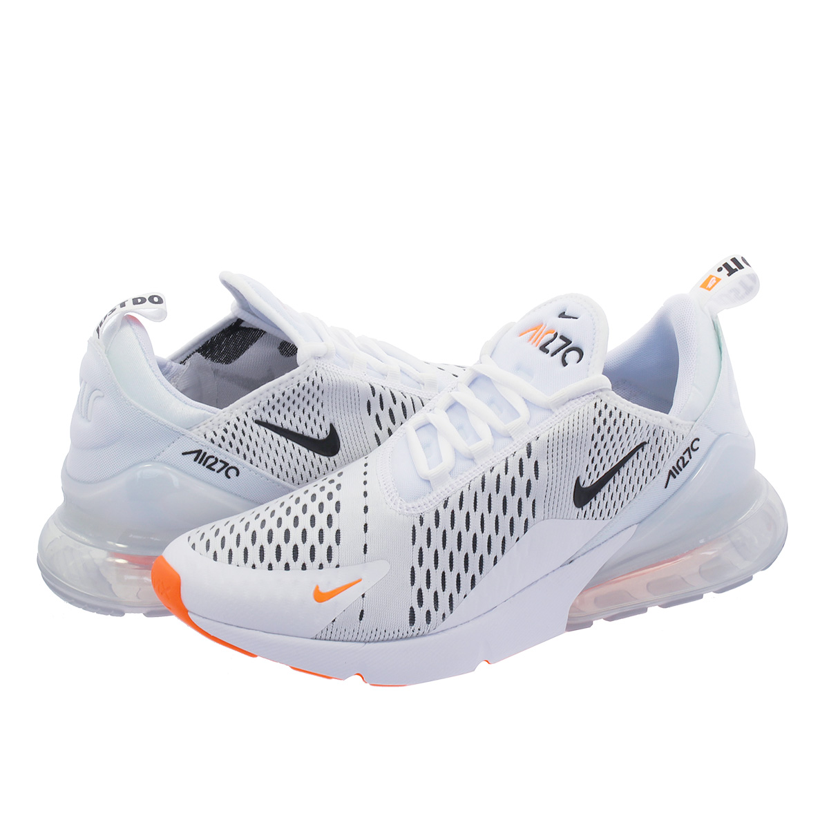 5b5bb3c9d0f SELECT SHOP LOWTEX  NIKE AIR MAX 270 Kie Ney AMAX 270 WHITE BLACK TOTAL  ORANGE ah8050-106