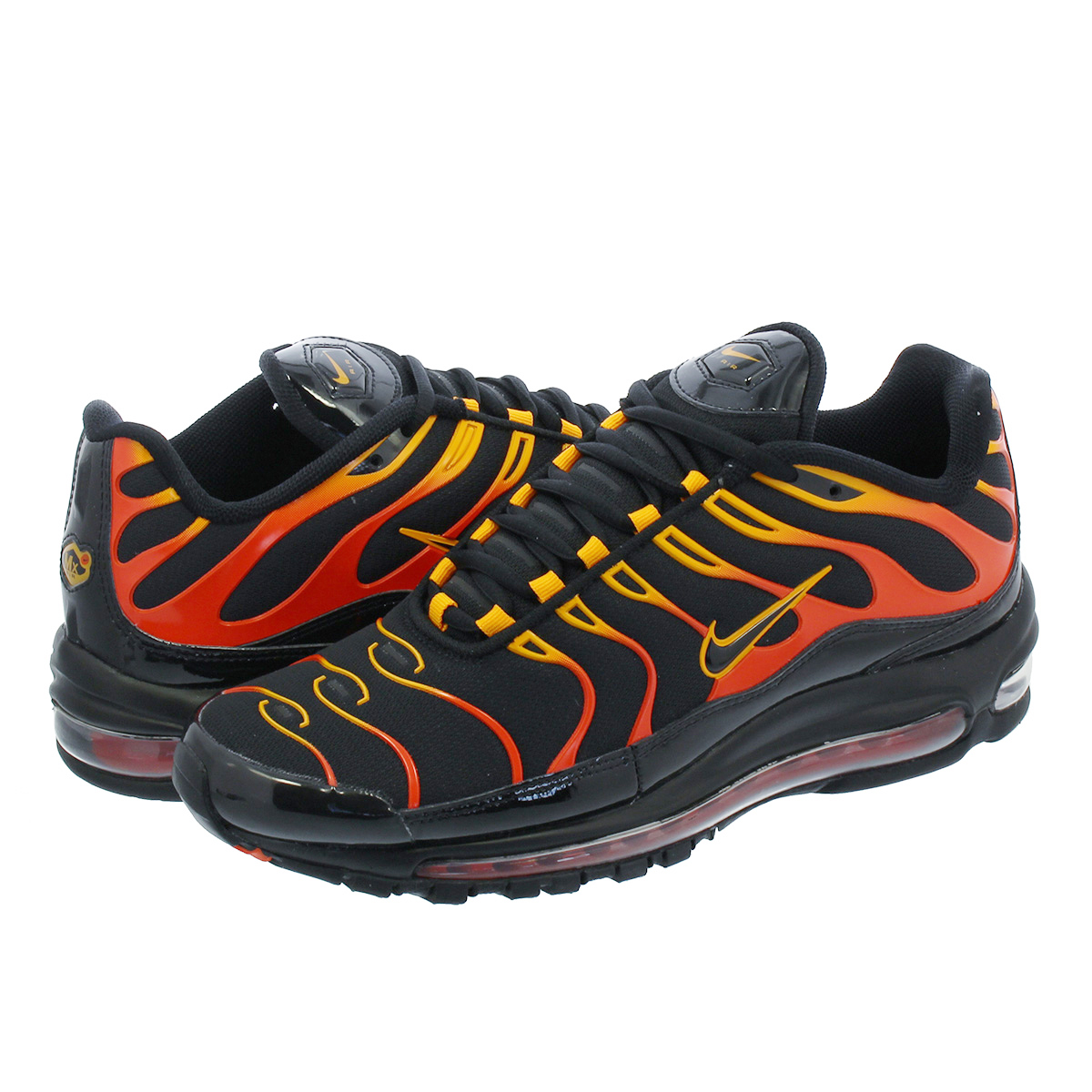 official photos 1bc7c 024e3 NIKE AIR MAX 97 PLUS Kie Ney AMAX 97 plus BLACK/ENGINE 1 /SHOCK ORANGE  ah8144-002