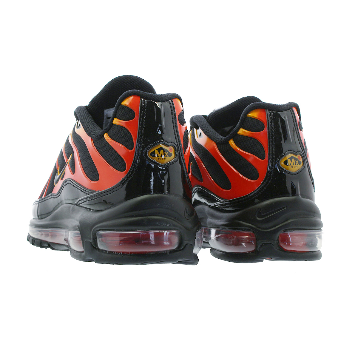 bb715c17c8 ... NIKE AIR MAX 97 PLUS Kie Ney AMAX 97 plus BLACK/ENGINE 1 /SHOCK ...