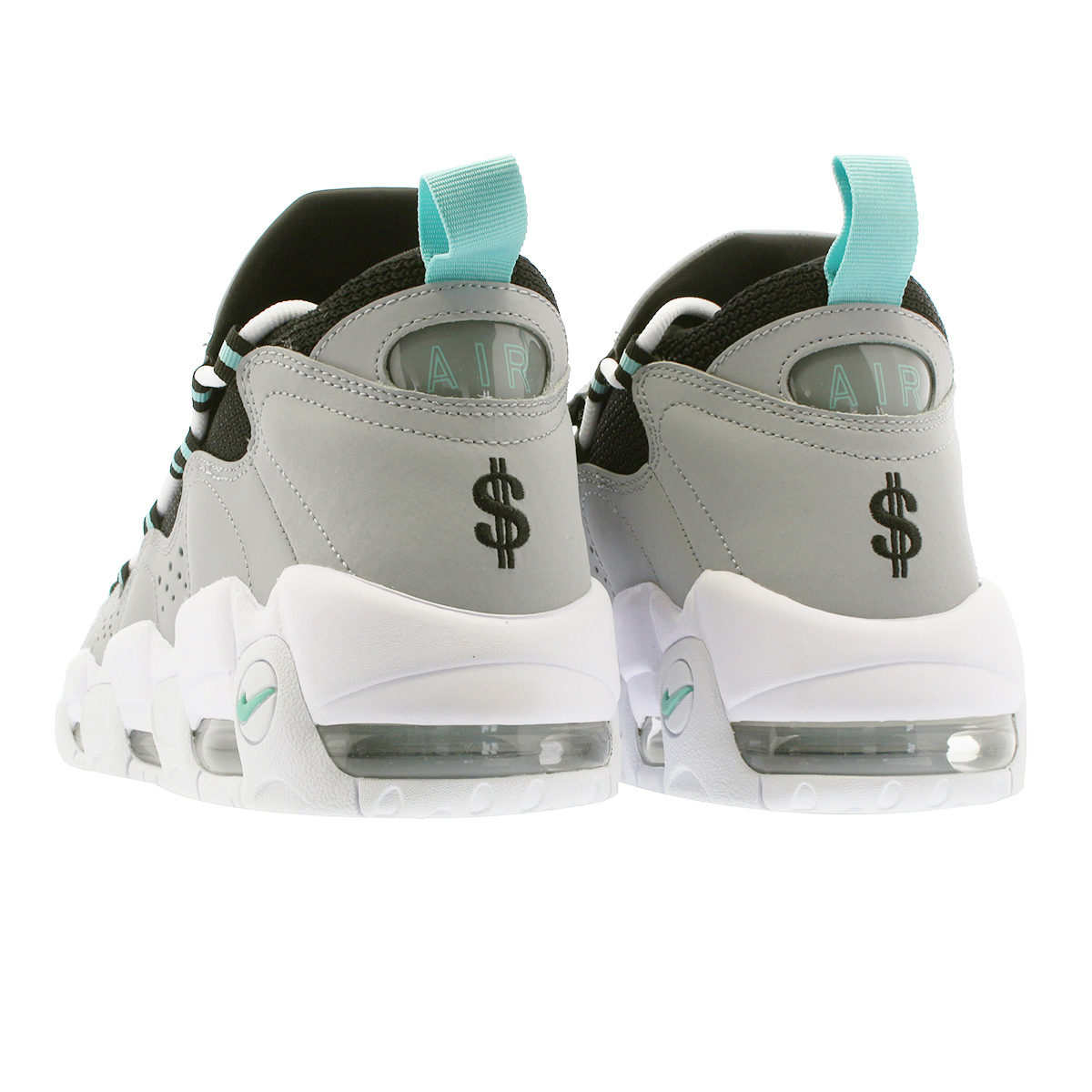 hot sale online ca84f 823b9 NIKE AIR MORE MONEY Nike air more money WOLF GREY ISLAND GREEN BLACK aj2998- 003