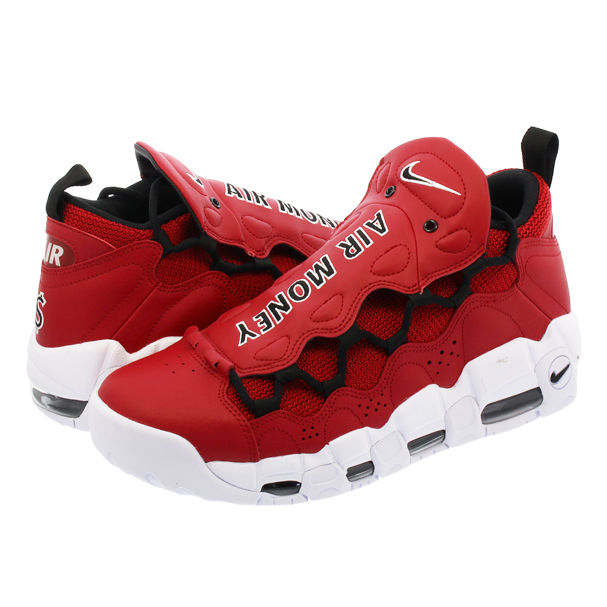 best service 49567 be544 SELECT SHOP LOWTEX: NIKE AIR MORE MONEY Nike air more money GYM RED/BLACK/ WHITE | Rakuten Global Market