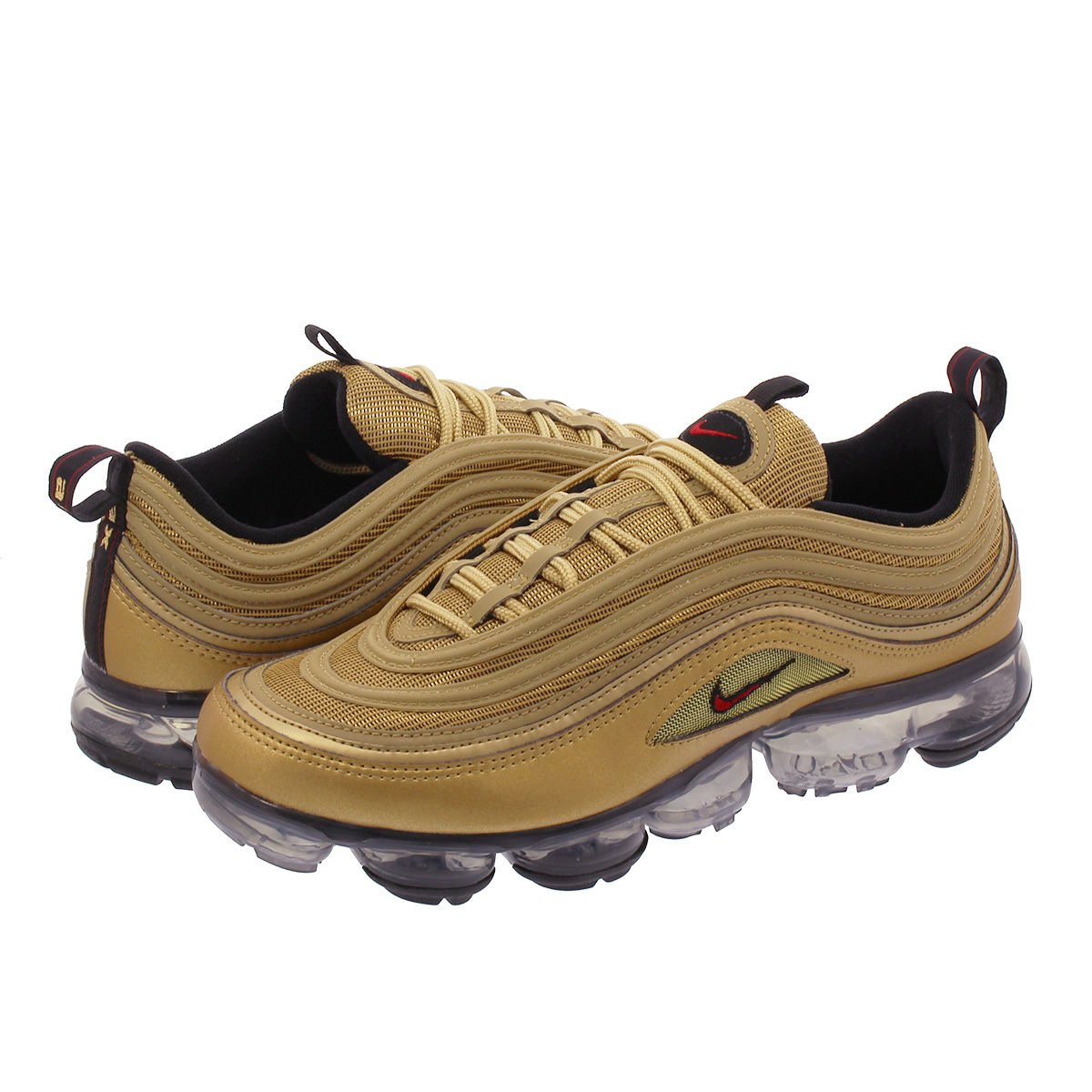 best service ad797 d7802 NIKE AIR VAPORMAX 97 Nike air vapor max 97 METALLIC GOLD/VARSITY  RED/BLACK/WHITE aj7291-700
