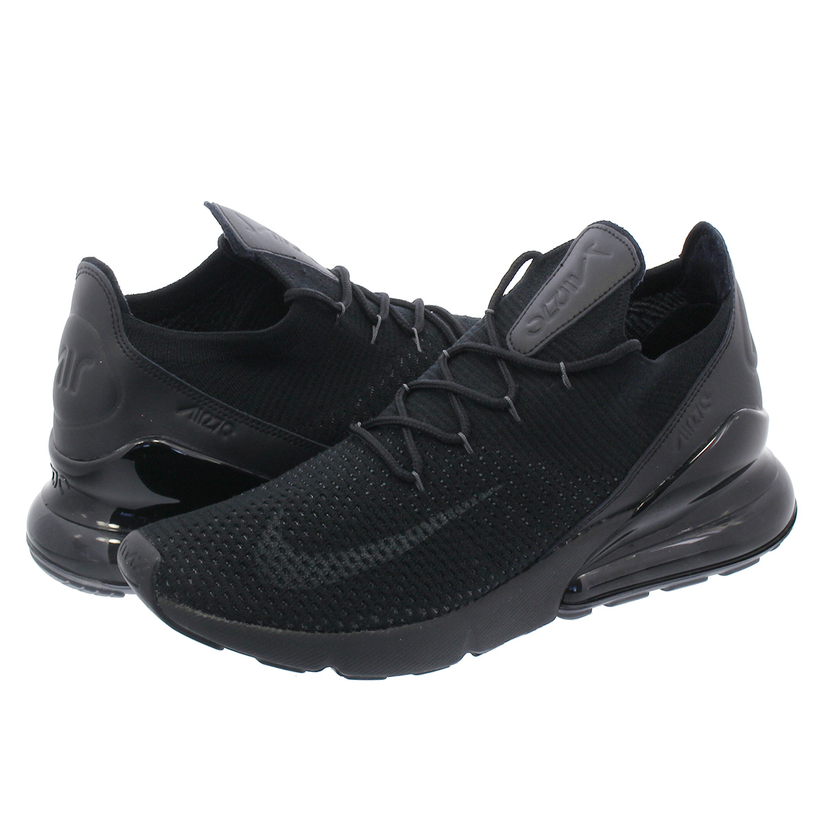NIKE AIR MAX 270 FLYKNIT Kie Ney AMAX 270 fried food knit BLACKANTHRACITE ao1023 005