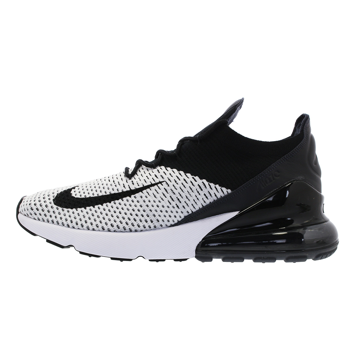 36799ed88169e NIKE AIR MAX 270 FLYKNIT Kie Ney AMAX 270 fried food knit WHITE BLACK ANTHRACITE  ao1023-100