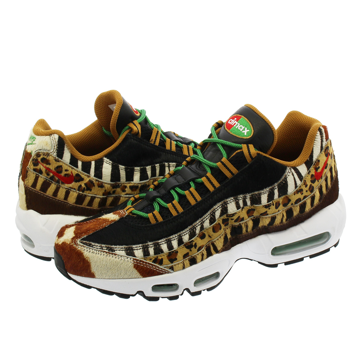 NIKE AIR MAX 95 DLX 【atmos】【ANIMAL PACK】 ナイキ エア マックス 95 DLX PONY/SPORT RED/BLACK aq0929-200