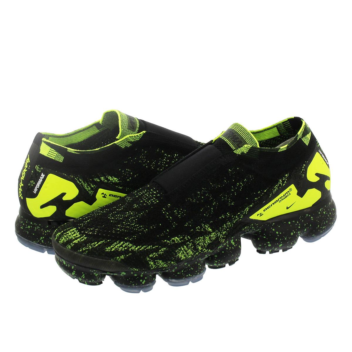 95bccfda944 NIKE X ACRONYM AIR VAPORMAX MOC 2 Nike X アクロニウムエアヴェイパーマックスモック 2 BLACK BLACK VOLT  aq0996-007