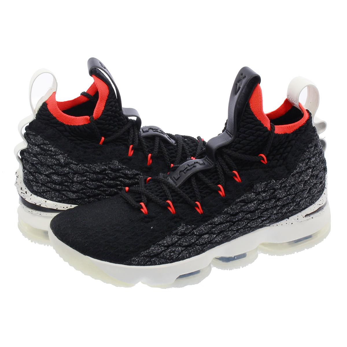 super popular 6a7e5 14ec3 NIKE LEBRON 15 Nike Revlon 15 BLACK SAIL BRIGHT CRIMSON aq2363-002