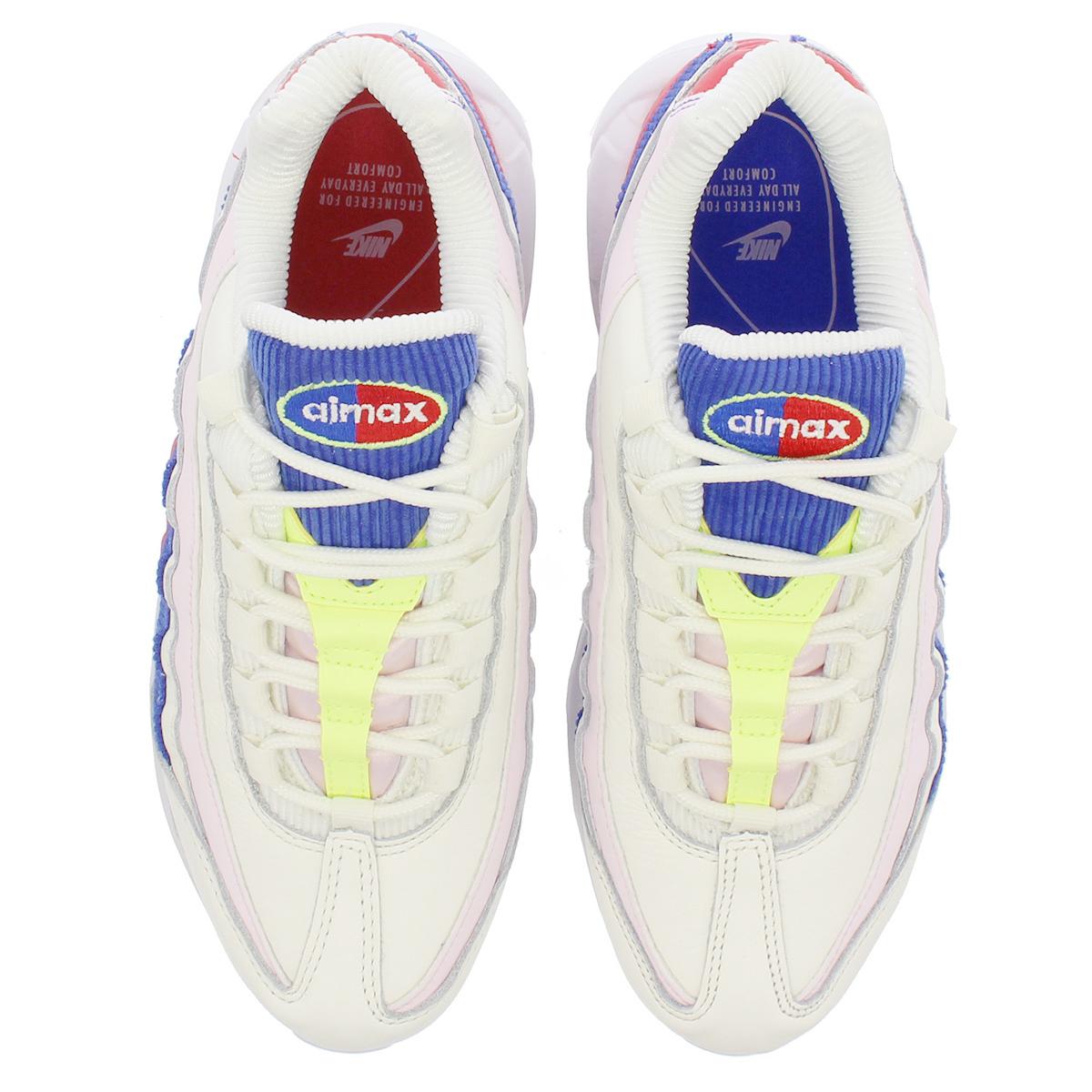 665a620daf3075 NIKE WMNS AIR MAX 95 SE Nike women Air Max 95 SE SAIL ARCTIC PINK RACER  BLUE aq4138-101