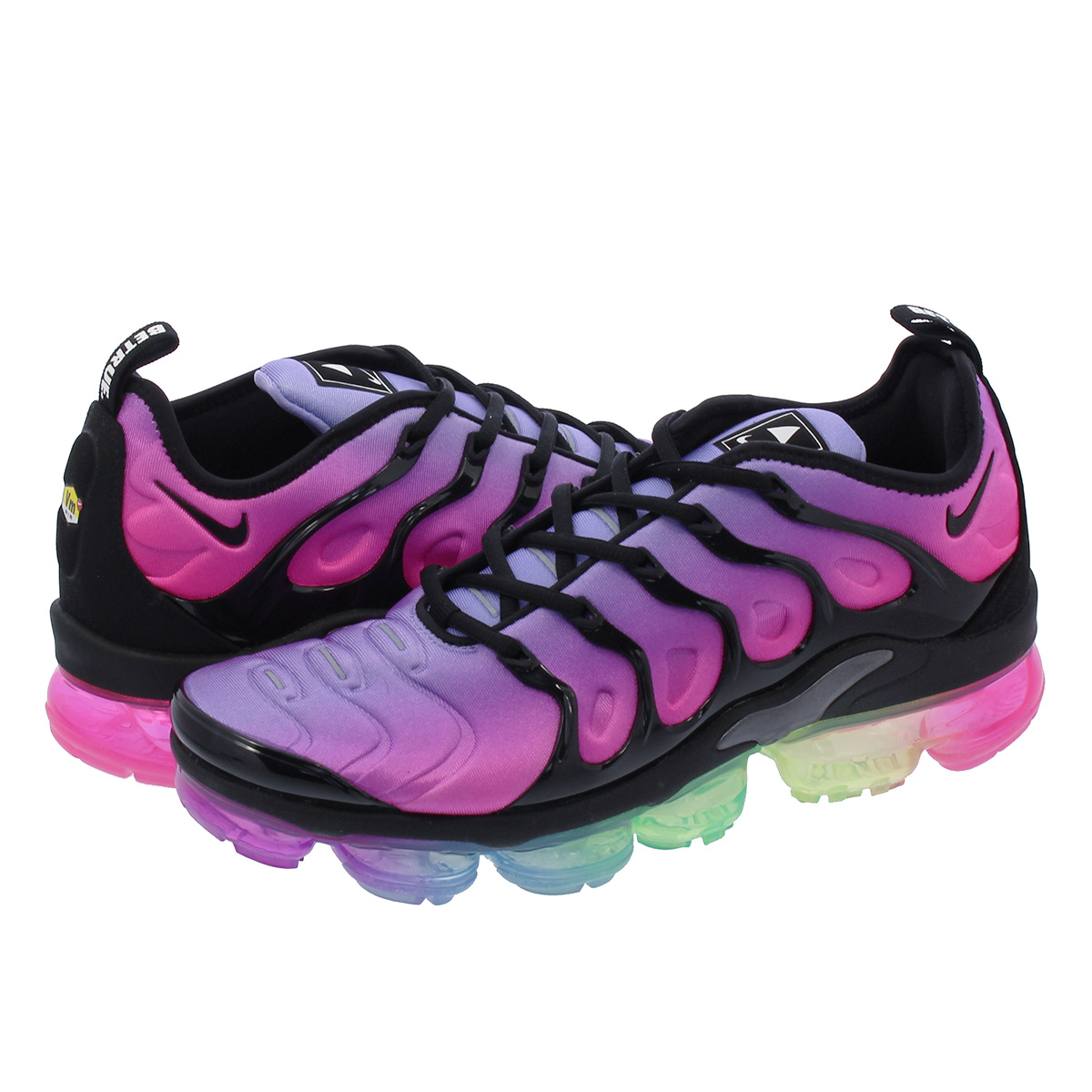 NIKE AIR VAPORMAX PLUS Nike vapor max plus PURPLE PULSE PINK BLAST MULTI  COLOR BLACK ar4791-500 7e55386ef4