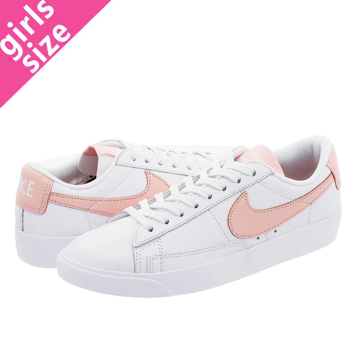 new product 88e3a 3a956 NIKE WMNS BLAZER LOW LE Nike women blazer low LE WHITE STORM PINK WHITE ...