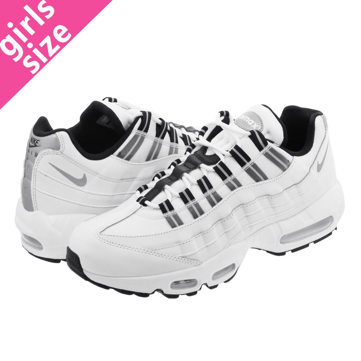6e6dc509a1e00 NIKE WMNS AIR MAX 95 Nike women Air Max 95 SUMMIT WHITE REFLECT  SILVER SUMMIT WHITE BLACK 307
