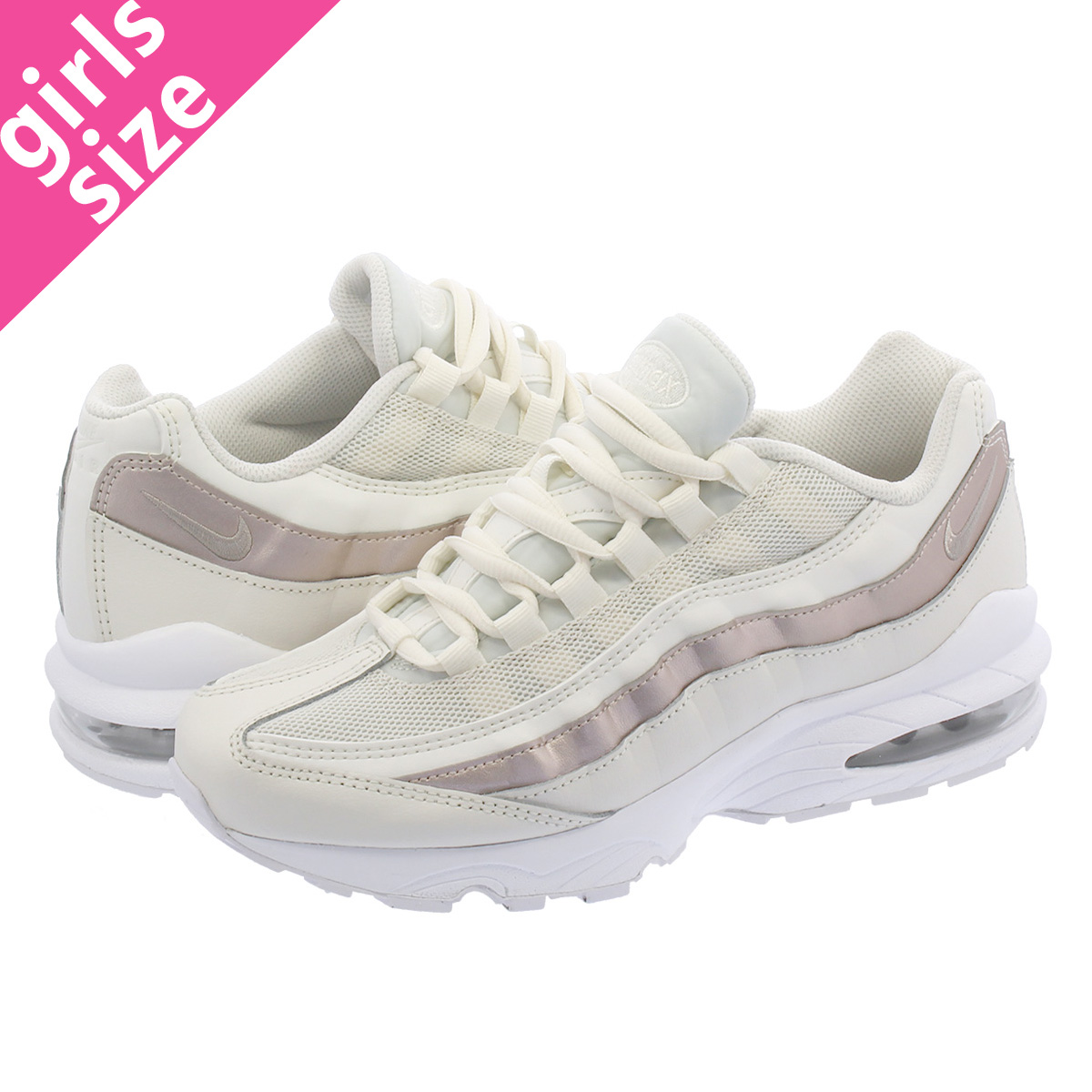 pretty nice 7da47 73bd7 NIKE AIR MAX 95 GS Kie Ney AMAX 95 GS BONE ROSE GOLD
