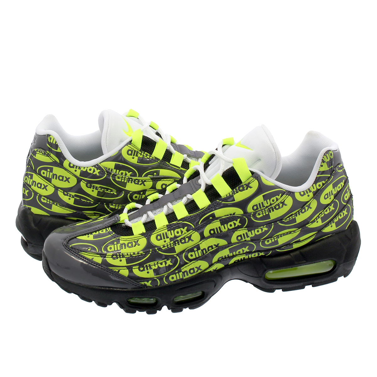 best sneakers 88453 766a9 NIKE AIR MAX 95 PREMIUM Kie Ney AMAX 95 premium BLACK/VOLT/ASH/WHITE  538,416-019
