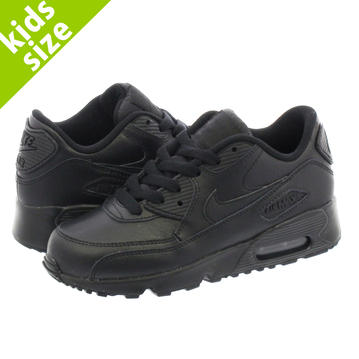NIKE AIR MAX 90 LTR PS Kie Ney AMAX 90 leather PS BLACKBLACK 833,414 001