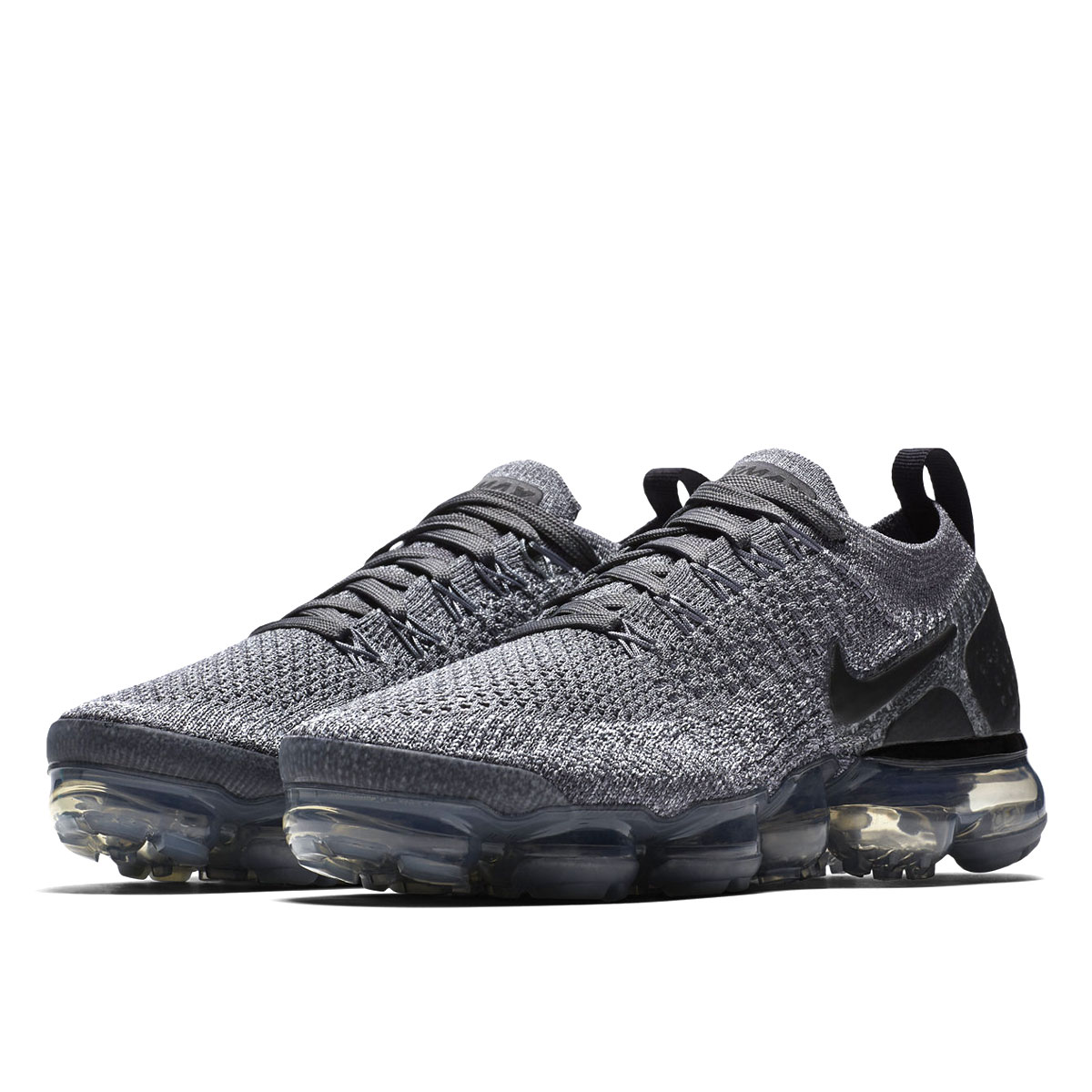 40b349c53538 NIKE WMNS AIR VAPORMAX FLYKNIT 2 Nike women vapor max fried food knit DARK  GREY WOLF GREY 942