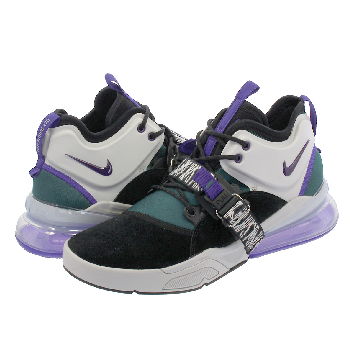 2861d1d98556d2 SELECT SHOP LOWTEX  NIKE AIR FORCE 270 Nike air force 270 BLACK COURT  PURPLE DARK ATOMIC TEAL ah6772-005