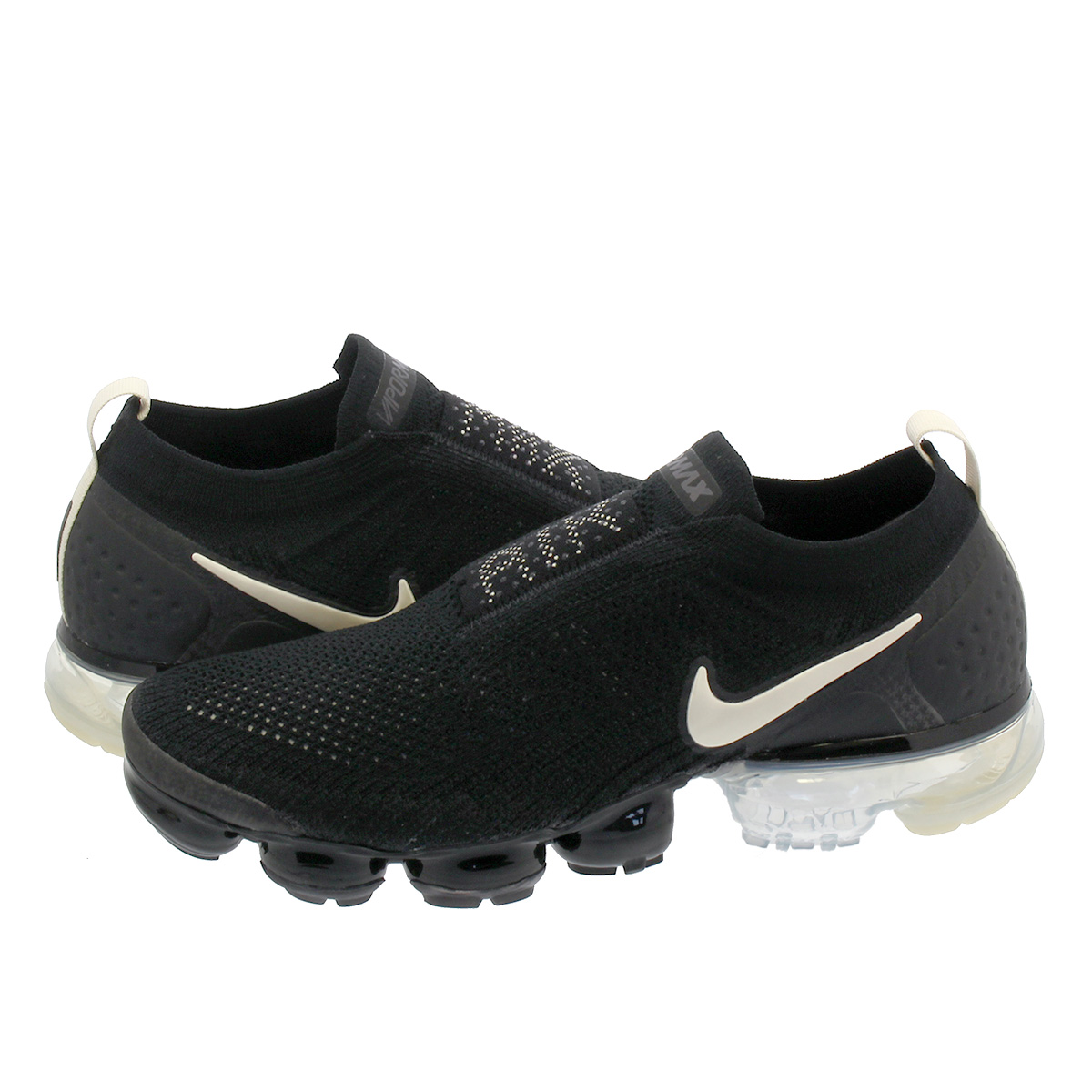 2b542bfbba59 NIKE AIR VAPORMAX MOC 2 Nike air vapor max fried food knit mock 2 BLACK LIGHT  CREAM WHITE THUNDER GREY ah7006-002
