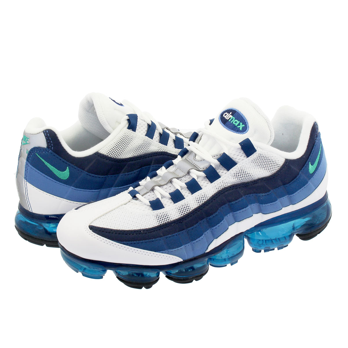 NIKE AIR VAPORMAX 95 ナイキ エア ヴェイパーマックス 95 WHITE/NEW GREEN/FRENCH BLUE/LAKE BLUE aj7292-100