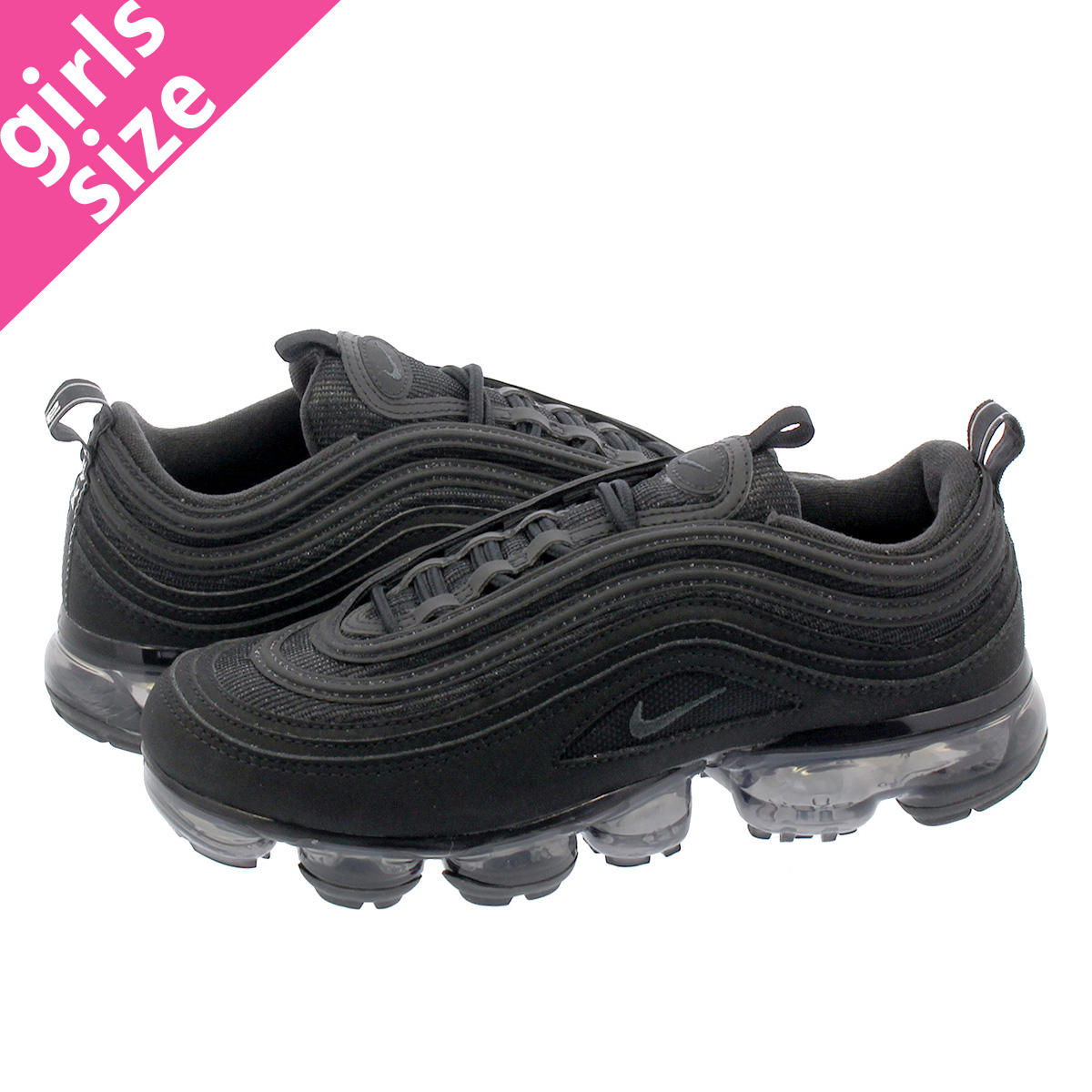 finest selection fda46 8a6d9 NIKE AIR VAPORMAX 97 GS Nike air vapor max 97 GS BLACK/BLACK aq2657-001