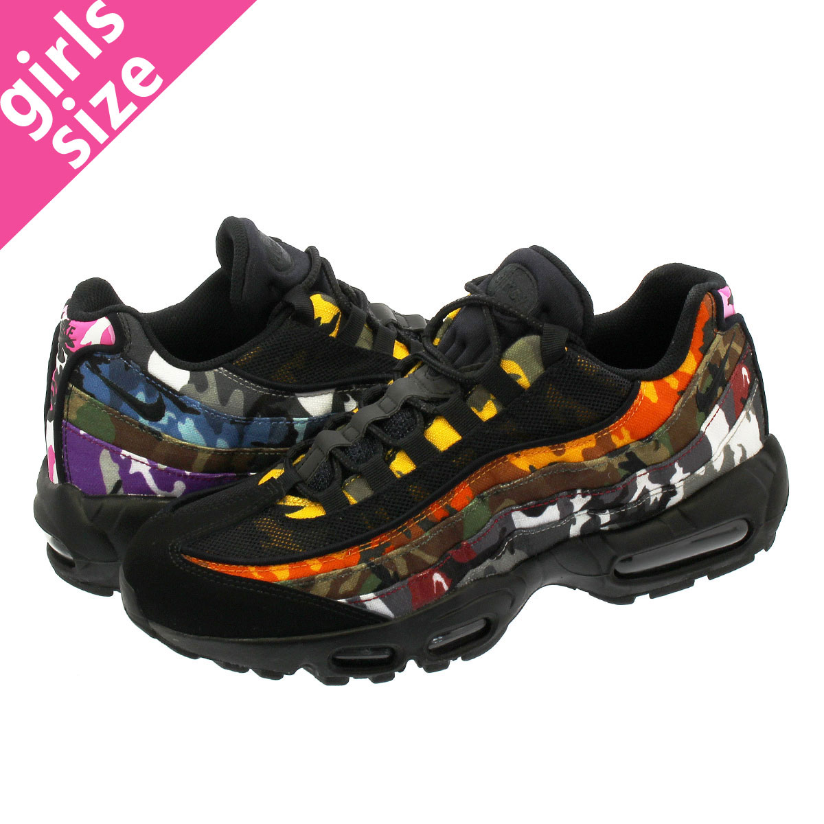 check out 38399 88340 NIKE AIR MAX 95 ERDL PARTY Kie Ney AMAX 95 BLACK/MULTI CAMO ar4473-001