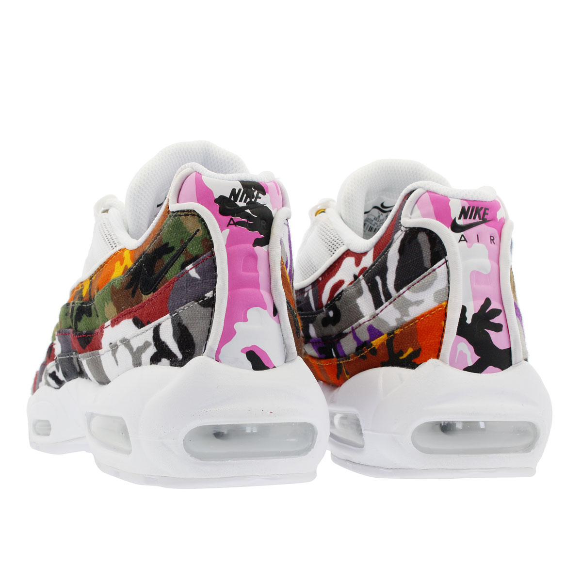 new concept a68cc dc442 NIKE AIR MAX 95 ERDL PARTY Kie Ney AMAX 95 WHITE MULTI CAMO ar4473-100