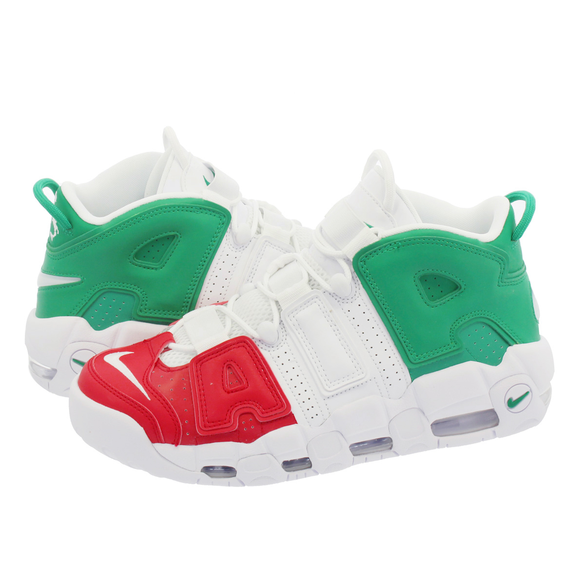 SELECT SHOP LOWTEX  NIKE AIR MORE UPTEMPO 96 ITALY QS Nike more up tempo 96  Italian QS UNIVERSITY RED WHITE LUCID GREEN av3811-600  930c1d9e3
